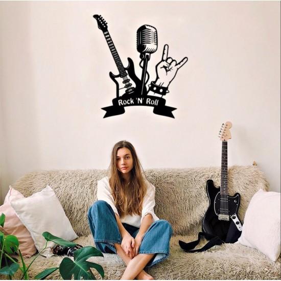 Gitar Lazer Kesim Metal Tablo