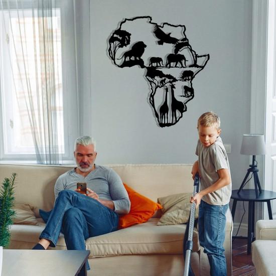Afrikalı Hayvanlar Metal Tablo