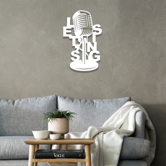Mikrofon Metal Tablo