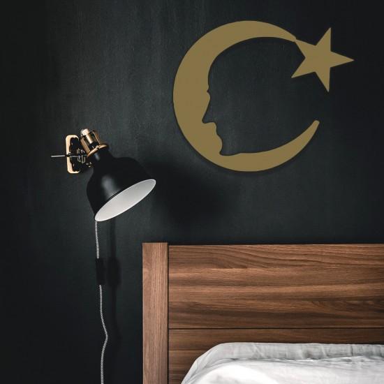 Ay Yıldız - Atatürk Metal Tablo