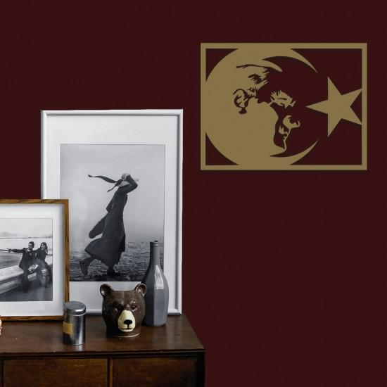 Ay Yıldız- Atatürk Metal Tablo