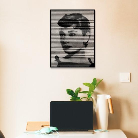 Audrey Hepburn Metal Tablo