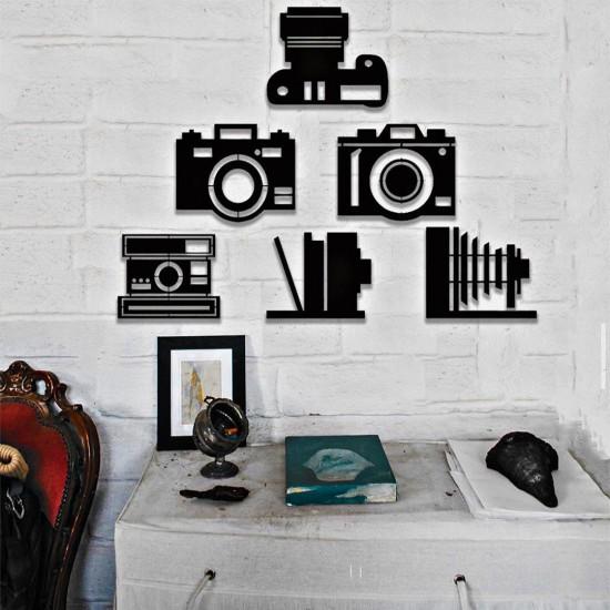Fotoğraf Makineleri Metal Tablo