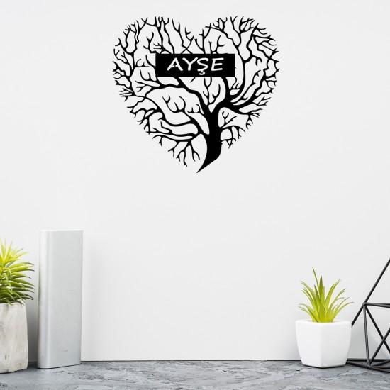 Kalbimde Büyüyen Ağaç - Kişiye Özel Metal Tablo
