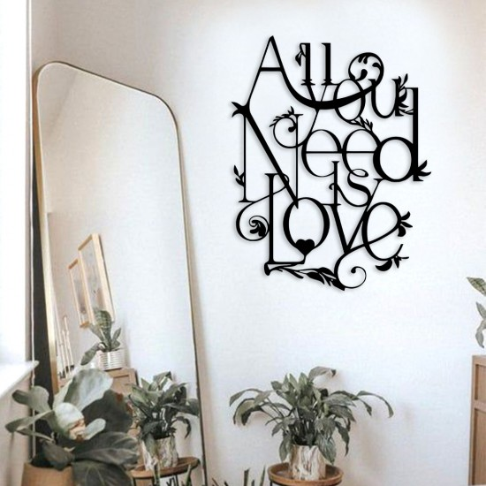 All You Need Is Love Metal Tablo